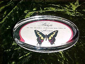 Butterfly paperweight, vintage hallmark