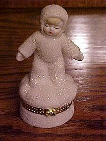 Standing snow baby trinket box