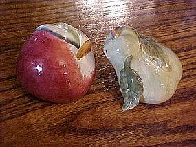 Pear and apple salt and pepper shaker set
