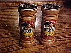 Wood souvenir  shakers from Hawaii, Hula girl