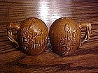 Pottery souvenir shakers from New Mexico, Yucca trees