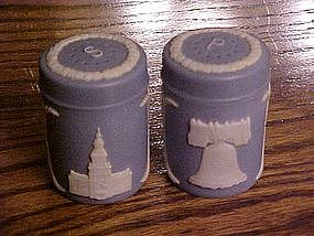 "Vintage Wedgewood ""look"" salt and pepper shakers"