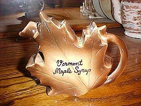 Old  souvenir maple syrup pitcher from Vermont