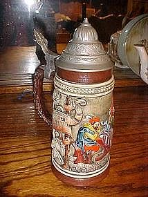 West Germany beer stein, Pub scene, Corzelius