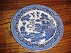 Old Japan blue willow dinner plate