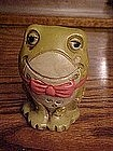 Little green toad frog, ceramic bank