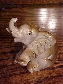 Vintage, sitting elephant figurine