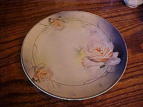 Prussia Royal Rudolstadt hand painted roses plate