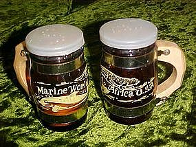 Marine world Africa salt and pepper shakers