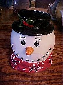 Snowman head, cookie / treat jar