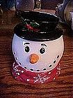 Snowman head, cookie / treat jar