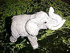Great elephant figurine with glass eyes