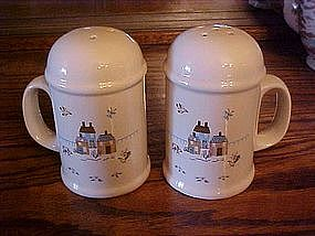 Huge Range shakers with homespun farm scene