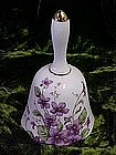 Lefton china bell with violets