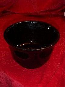 Haegar, black glazed mixing bowl