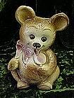 Royal Copley bear with lollipop vase