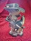 Hand painted ceramic blue birds figurine