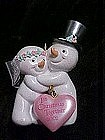 Our first Christmas together 2002, snowmen with heart