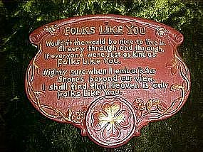 "Syrocco wall plate poem, ""Folks like you"""