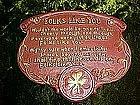 """Syrocco wall plate poem, """"Folks like you"""""""