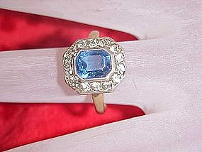 Old costume 12kt gold filled and sterling ring