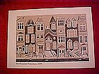Print of San Francisco Victorian houses, 1890