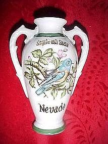 Norcrest, Souvenir vase from Nevada, bluebird