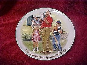 "Csatari Grandparent plate 1986, ""The home run"""