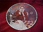 Rockwell Society  collector plate, Deer Santy Claus
