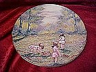 Dominic Mingolla, Picking Flowers, collector plate