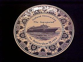 Blauw Delfts,Holland America Line, The Inaugural,plate