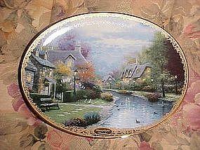 Thomas Kinkade's Lamplight Brooke, collector plate
