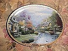 Thomas Kinkade's Lamplight Brooke, collector plate