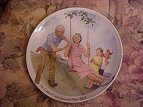 """""""The Swinger"""" Csatari Grandparent plate 1983"""