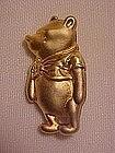 Winnie the Pooh gold tone pin, marked Disney