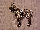 Vintage horse pin