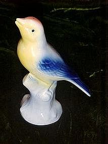 Vintage 1940's glazed pottery bird figurine