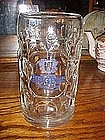 Large glass beer mug!! Huge liter size, Riegele