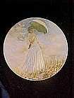 Woman with a parasol, Claude Monet, limited plate