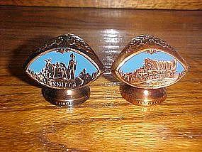 cast metal souvenir shakers, Knotts berry farm