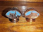 cast metal souvenir shakers, Knotts berry farm