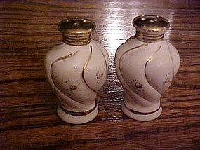 Dainty vintage ceramic salt and pepper shakers