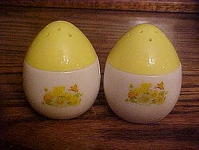 Vintage Avon milk glass egg salt and pepper shakers