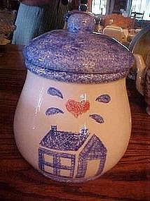 Heart and home sponge trim cookie jar