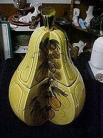 Golden Pear cookie jar by Los Angeles Potteries 1964