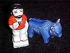Paul Bunyan and Babe the blue Ox, s and p shakers
