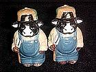 Farmer bulls, salt & pepper shakers