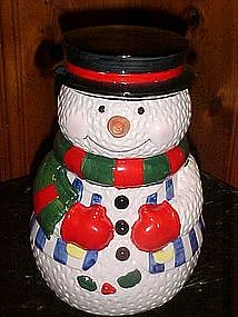 Snowman cookie jar, by Carson ceramics 1995