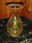Blenko, Jonquil yellow vase, piecrust top
