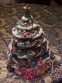 Christmas tree cookie jar